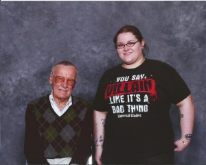Me and the legend himself - Stan Lee. My hero. :)