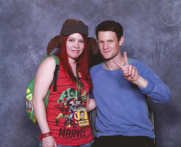 My best friend, Brittaney, with Matt Smith from Doctor Who.