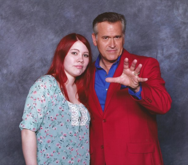 Brittaney and Bruce Campbell.