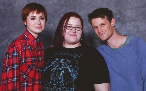 Myself with Matt Smith and Karen Gillan from Doctor Who.