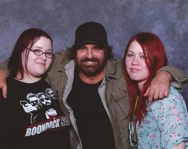 Myself, David Della Rocco, and Brittaney. Moments later, he kissed us both :D