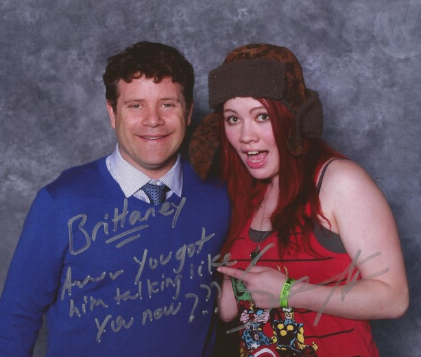 Brittaney geeking out over Sean Astin.